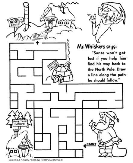 Christian christmas maze 10