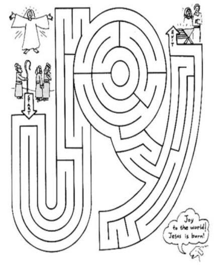 Christian christmas maze 12