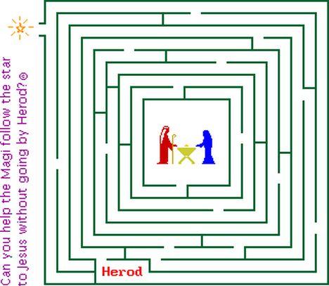 Christian christmas maze 13