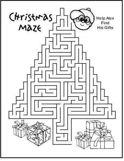 Christian christmas maze 2