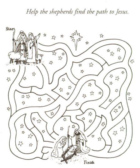 Christian christmas maze 3