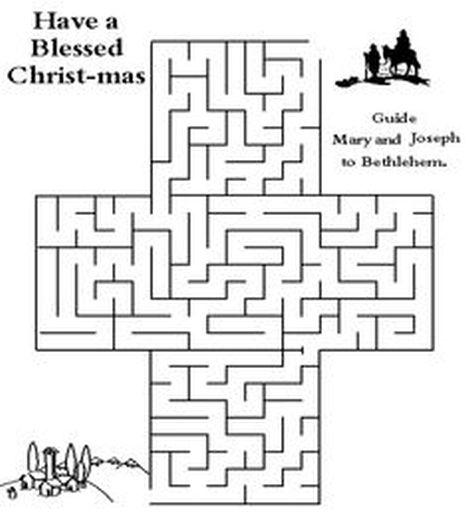 Christian christmas maze 5
