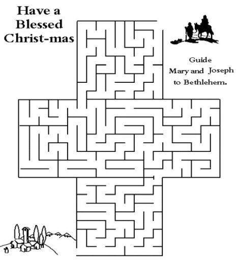Christian christmas maze 6