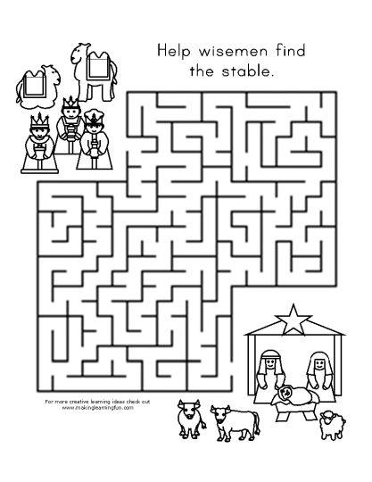 Christian christmas maze 7