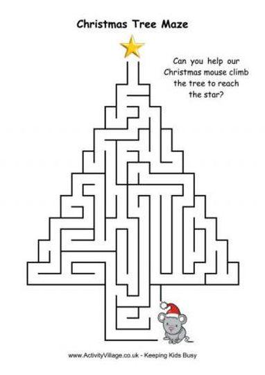 Christian christmas maze 8