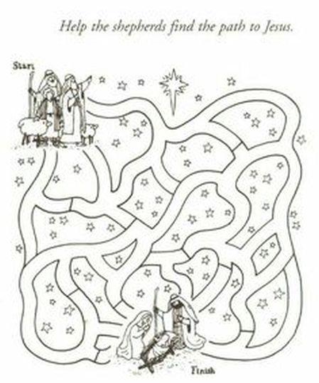 Christian christmas maze for kids 1