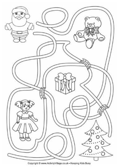Christian christmas maze for kids 10