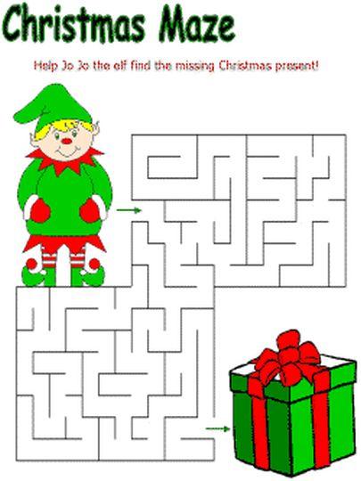 Christian christmas maze for kids 11