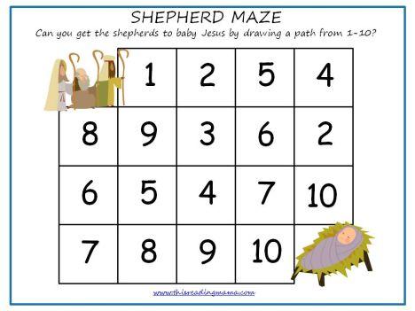 Christian christmas maze for kids 12