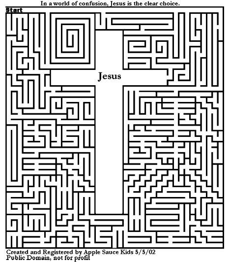 Christian christmas maze for kids 13