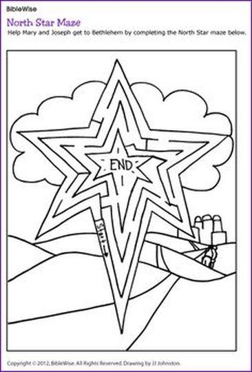 Christian christmas maze for kids 14