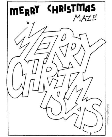 Christian christmas maze for kids 2