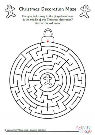 Christian christmas maze for kids 6