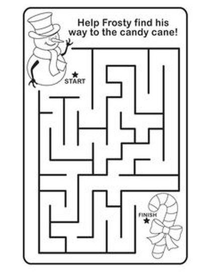 Christian christmas maze for kids 9