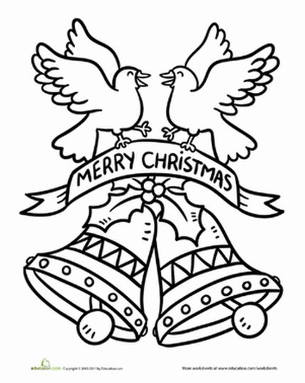 Christmas Bells Coloring Pages 22