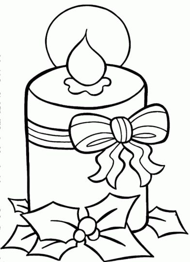 christmas lights coloring page - Coloring Pages Christmas Lights