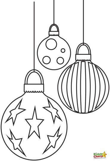 christmas light coloring page part 5