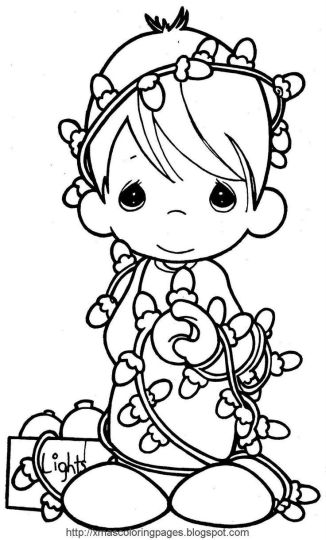 Christmas Light Coloring Page 56