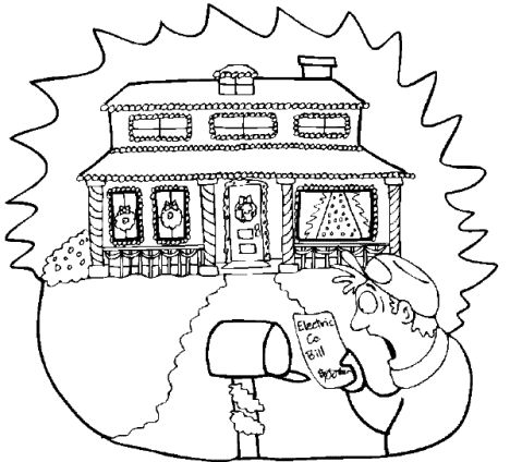 Christmas Light Coloring Page 59