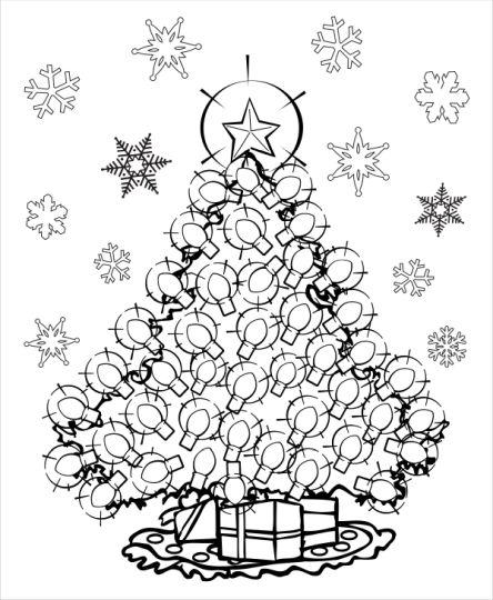 Christmas Light Coloring Page 68