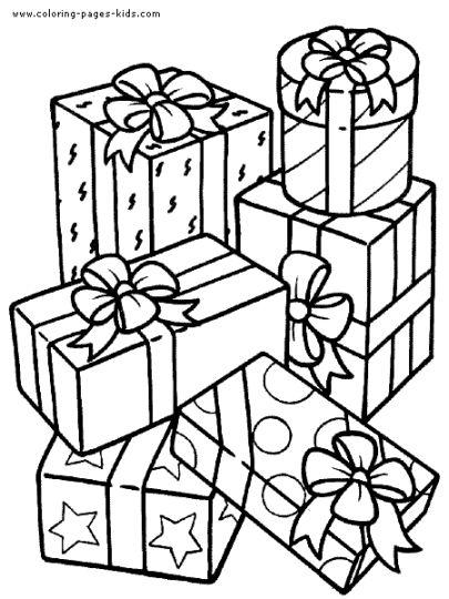 Christmas Present Color Page 4