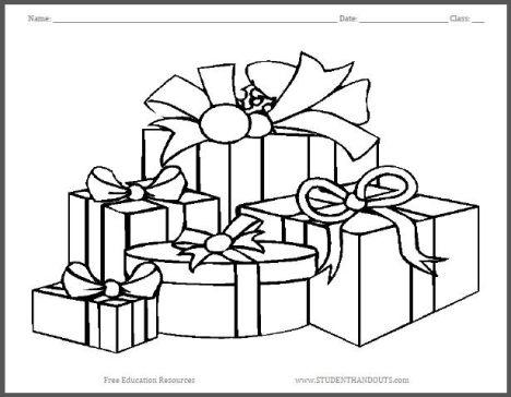 Christmas Present Color Page 52
