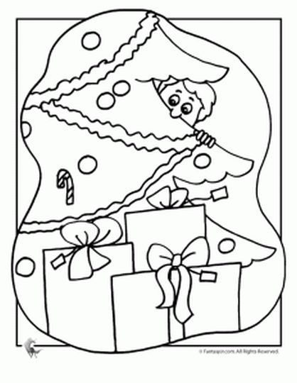 Christmas Tree With Presents Coloring Page 10