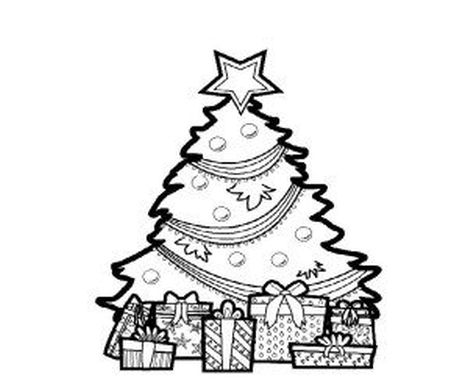 Christmas Tree With Presents Coloring Page 12
