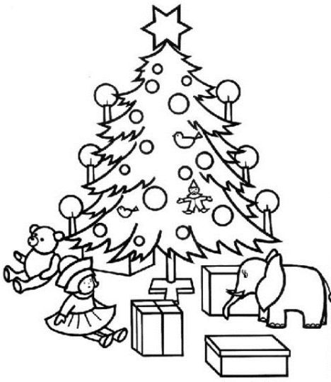 Christmas Tree With Presents Coloring Page 13