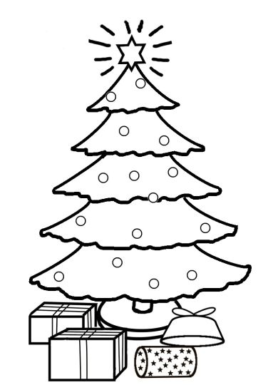 Christmas Tree With Presents Coloring Page 17