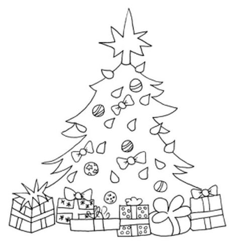 Christmas Tree With Presents Coloring Page 23