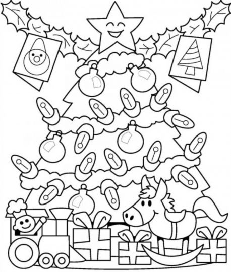 Christmas Tree With Presents Coloring Page 26