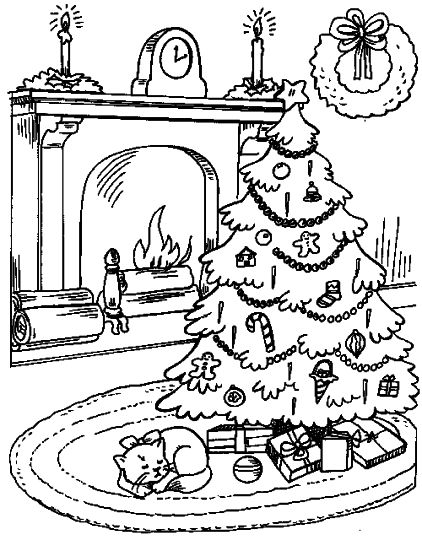 Christmas Tree With Presents Coloring Page 28