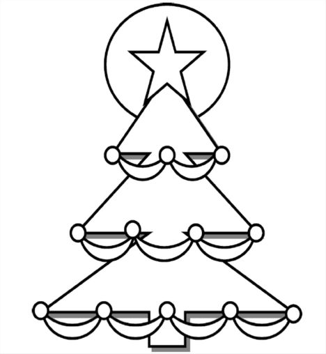Christmas Tree With Presents Coloring Page 29