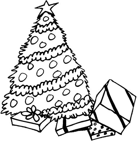 Christmas Tree With Presents Coloring Page 31