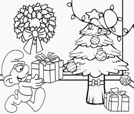 Christmas Tree With Presents Coloring Page 32