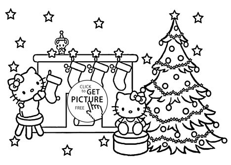 Christmas Tree With Presents Coloring Page 33