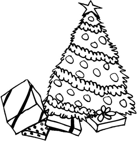 Christmas Tree With Presents Coloring Page 35