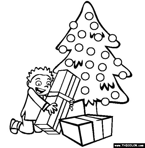 Christmas Tree With Presents Coloring Page 36