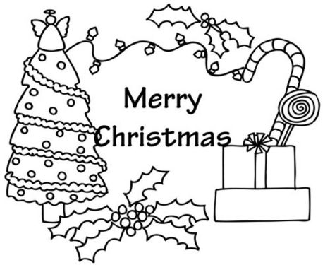 Christmas Tree With Presents Coloring Page 38