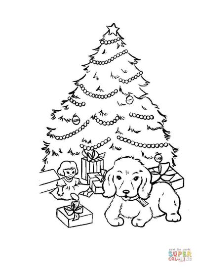 Christmas Tree With Presents Coloring Page 39