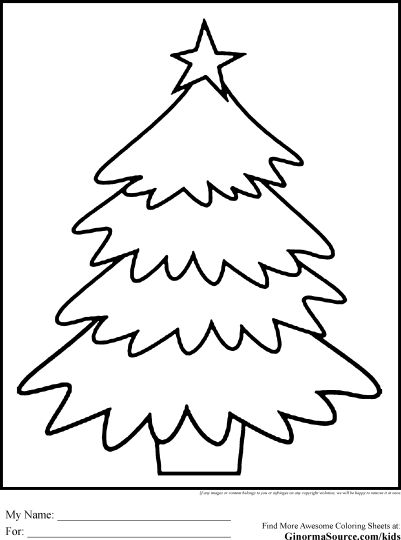 Christmas Tree With Presents Coloring Page 43