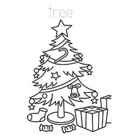 Christmas Tree With Presents Coloring Page 44