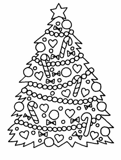 Christmas Tree With Presents Coloring Page 45