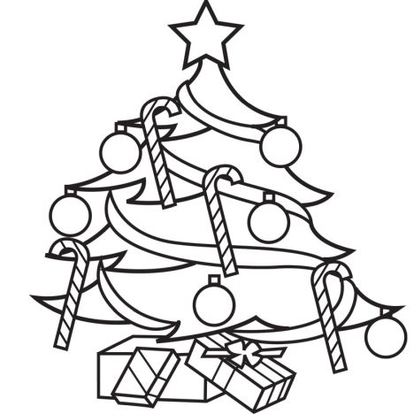 Christmas Tree With Presents Coloring Page 46