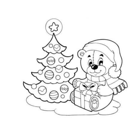 Christmas Tree With Presents Coloring Page 47