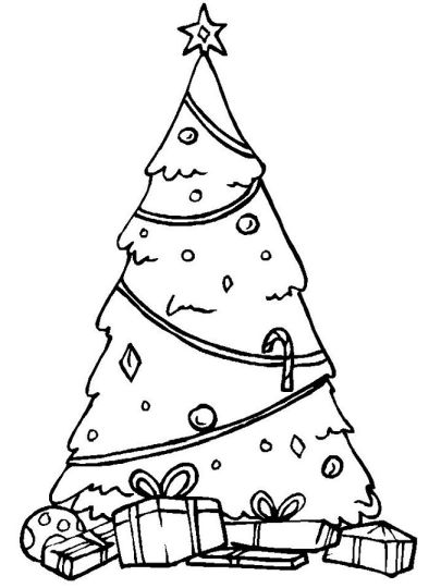 Christmas Tree With Presents Coloring Page 49