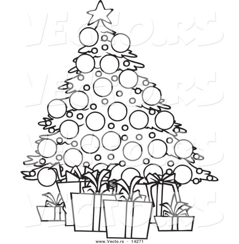 Christmas Tree With Presents Coloring Page 50