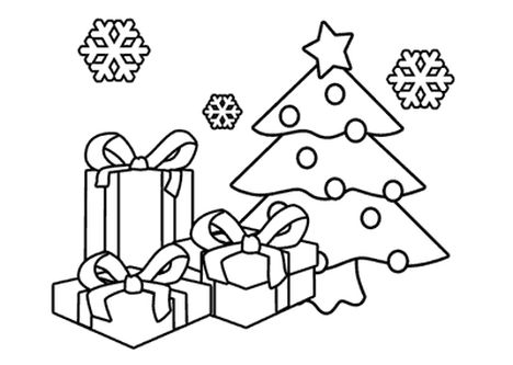 Christmas Tree With Presents Coloring Page 51