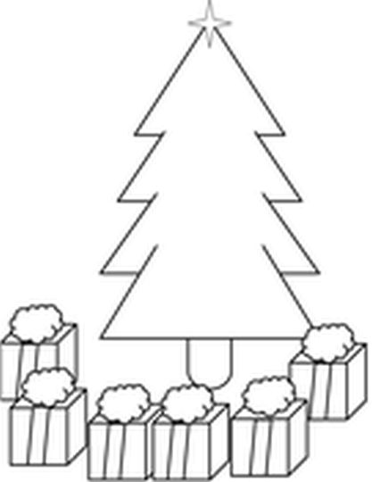 Christmas Tree With Presents Coloring Page 53